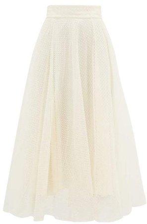 Espionage Fil Coupe Tulle Ballet Skirt - Womens - Cream