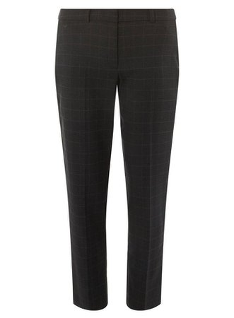 Grey Check Ankle Grazer Trousers | Dorothy Perkins