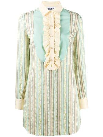 Moschino Striped Jacquard Dress - Farfetch
