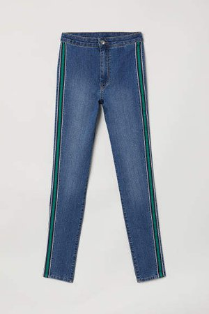 Super Skinny Ankle Jeans - Blue