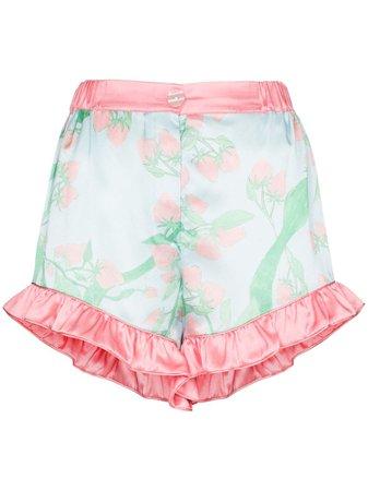 Helmstedt Strawberry Print Silk Pajama Shorts - Farfetch