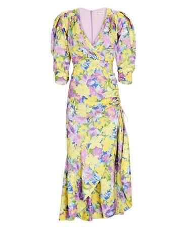 For Love & Lemons Casia Floral Midi Dress | INTERMIX®