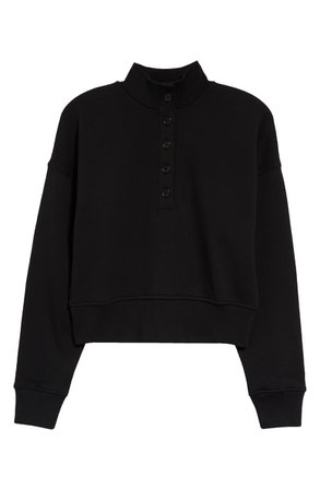 Reformation Marla Button Placket Sweatshirt | Nordstrom