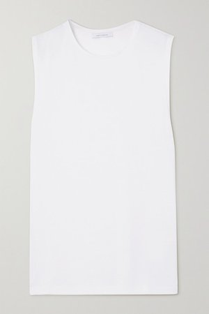 Net Sustain Organic Cotton-jersey Tank - White