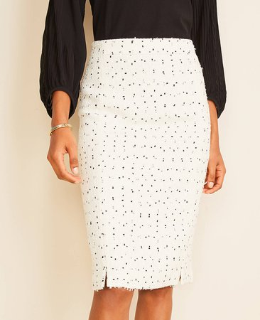 Textured Tweed Pencil Skirt | Ann Taylor