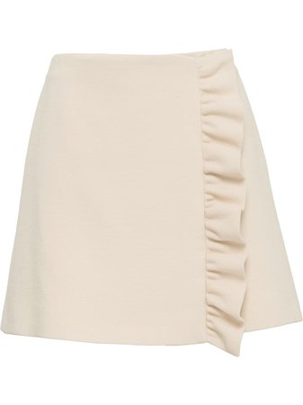 Miu Miu ruffle trim skirt