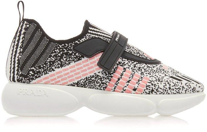 Cloudbust Metallic Stretch-Knit Sneakers