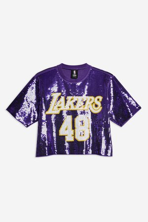 Lakers Sequin Crop Top by Unk x Topshop - Topshop