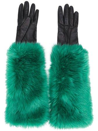 Prada, Faux Fur Lined Gloves