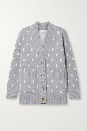Burberry | Jacquard-knit cardigan | NET-A-PORTER.COM