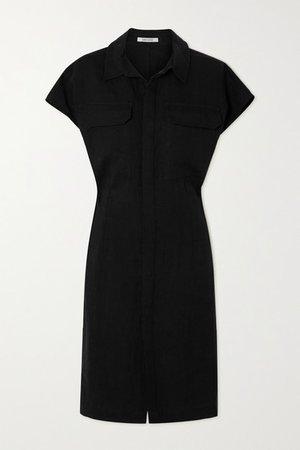Seffa Linen Shirt Dress - Black