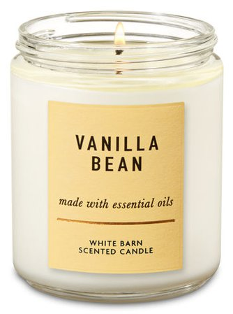 Vanilla Bean Single Wick Candle   Bath & Body Works