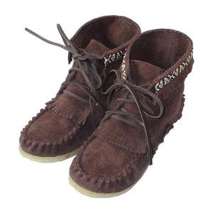 Children's Laurentian Chief Genuine Suede Leather Ankle Moccasin Boots – Moccasins Canada