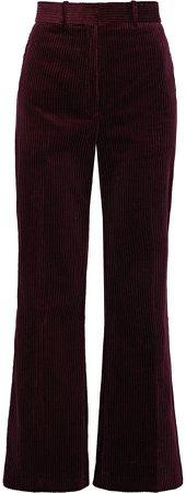 Cotton-corduroy Bootcut Pants