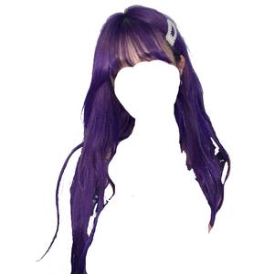 purple hair bangs clips png