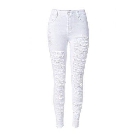 white ripped skinny jeans polyvore - Google zoeken
