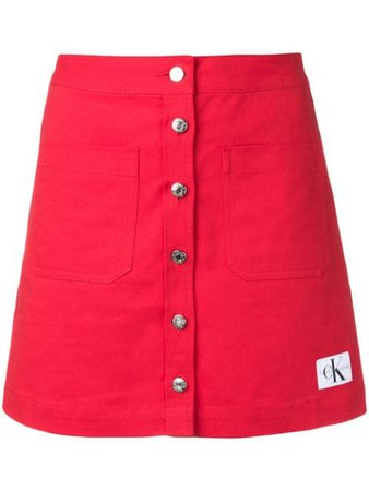 Calvin Klein Jeans Button Up Mini Skirt - Farfetch