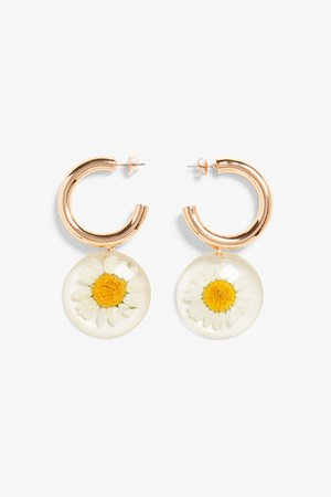 Daisy drop earrings - Daisies - Earrings - Monki WW