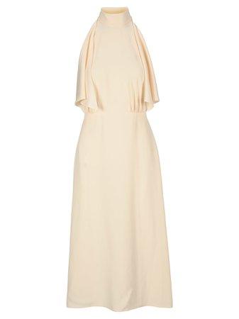 Prada Satin Ruffled Dress
