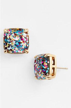 kate spade new york glitter stud earrings   Nordstrom