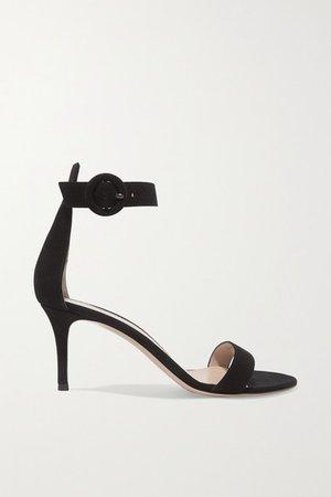 Portofino 70 Suede Sandals - Black