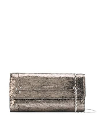 Metallic Jérôme Dreyfuss Portefeuille metallized clutch bag - Farfetch