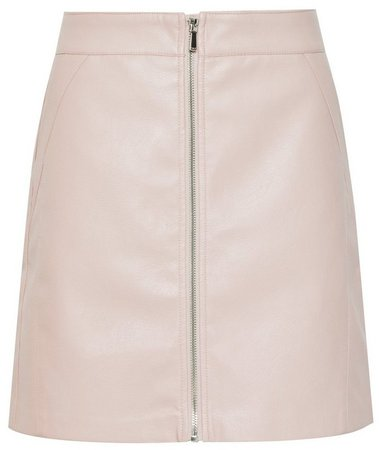 **Only Blush Zip PU Skirt