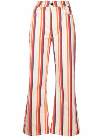 Paco Rabanne Straight kick-flare Trousers - Farfetch