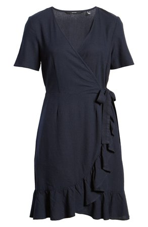 VERO MODA Helen Wrap Minidress | Nordstrom