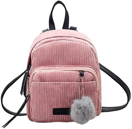 Amazon.com: Creazrise Women Fashion School Bags Mini Thicken Corduroy Backpacks (Pink): Clothing