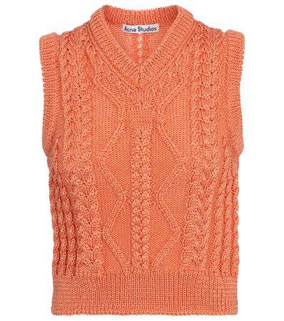 Acne Studios - Cable-knit sweater vest | Mytheresa