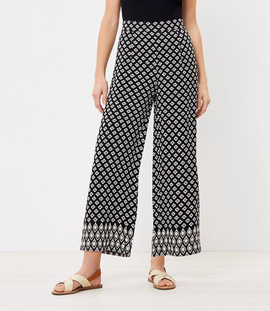 The Petite Pull On Wide Leg Crop Pant