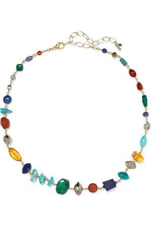 Chan Luu | Gold-plated multi-stone necklace | NET-A-PORTER.COM