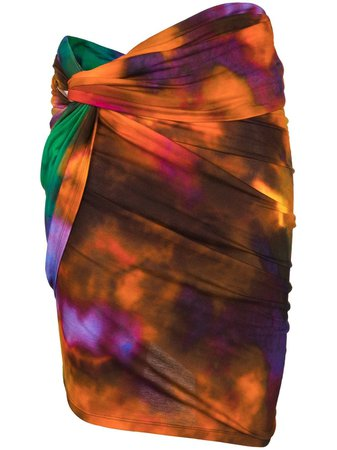 The Attico tie-dye Print Mini Skirt - Farfetch
