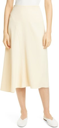 Asymmetrical Seam Midi Skirt