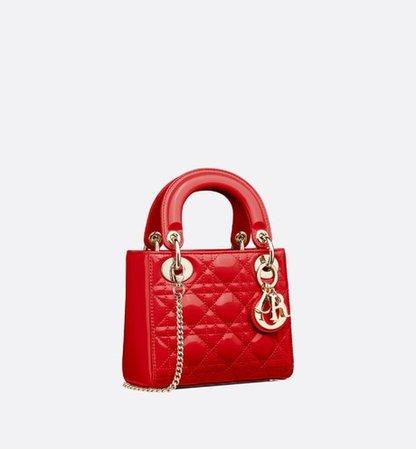 "Mini ""Lady Dior"" calfskin bag - Bags - Women's Fashion 