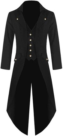 Amazon.com: Coat For Men, Clearance Sale! Pervobs Men's Tailcoat Jacket Gothic Frock Long Sleeve Uniform Costume Praty Coat Outwear(M, Black): Clothing