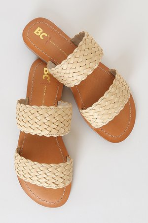 BC Footwear Perfectly Crafted - Woven Slides - Vegan Sandals
