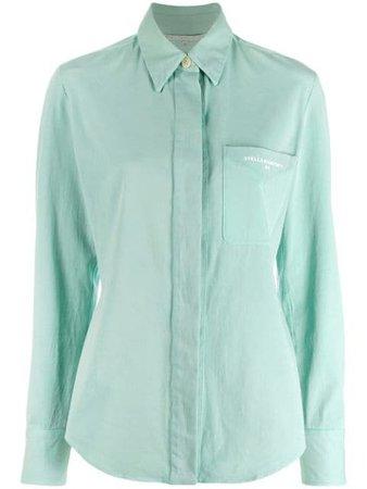 Stella McCartney Embroidered Logo Slim Shirt - Farfetch