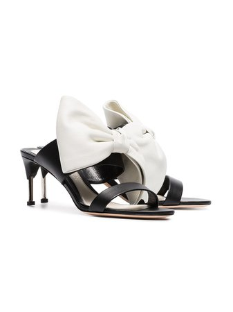 Alexander McQueen Pin Heel 65 Bow Mules $473 - Shop SS19 Online - Fast Delivery, Price