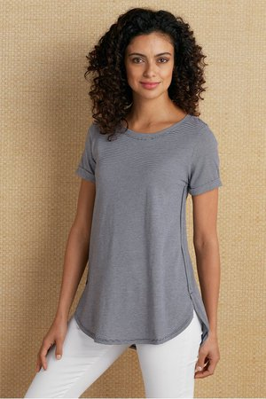 Iris Tee - Solid Womens Tee | Soft Surroundings