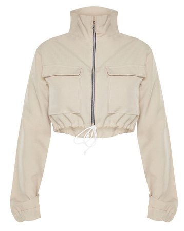 cropped jacket (beige)