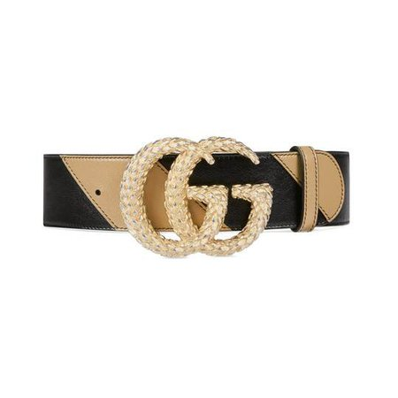 Belt with textured Double G buckle | GUCCI®