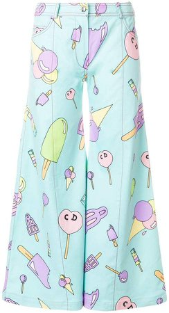 Pre-Owned Ice Cream flared trousers