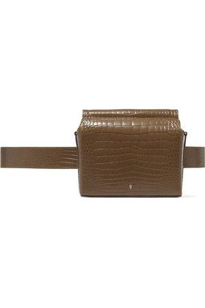 Gu_de   Pitch croc-effect leather belt bag   NET-A-PORTER.COM