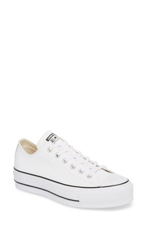converse - white - low top platform