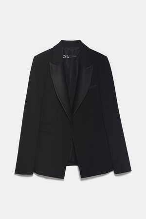 TUXEDO JACKET WITH LAPELS - BEST SELLERS-WOMAN | ZARA United States black