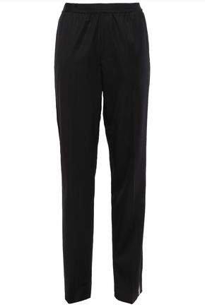 Striped Wool-twill Tapered Pants