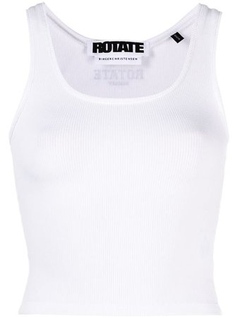 Shop white ROTATE Blomma tank top with Express Delivery - Farfetch