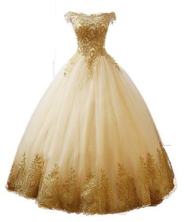 ball gown dress gold